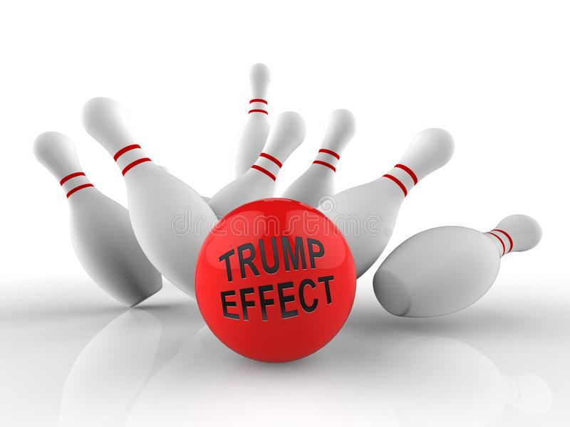 Trump Effect Meaning Fail Mess Screwup And Disaster - 3d Illustration. Trump Effect Meaning Fail Mess Screwup And Disaster. An End Result And Conclusion From stock illustration