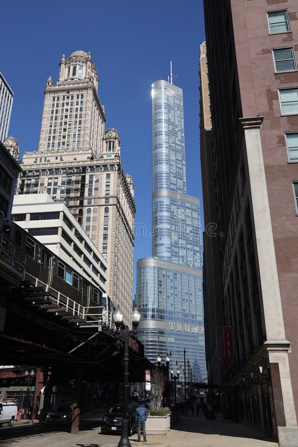 The Trump International Hotel & Tower in Chicago royalty free stock photos