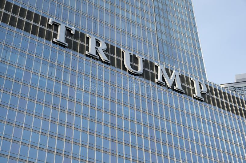 The Trump International Hotel Tower in Chicago. stock photos