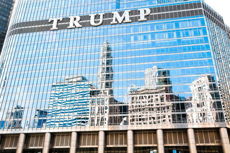 The Trump International Hotel and Tower, Chicago stock photography