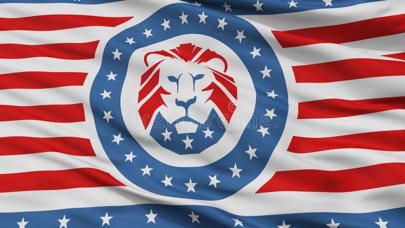 Trump Party Flag, Closeup View. Trump Party Closeup Flag, 3D Rendering stock illustration
