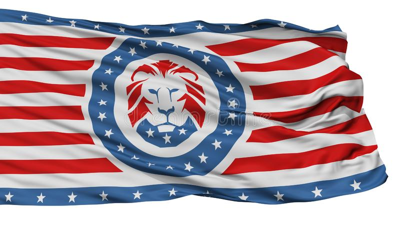 Trump Party Flag, Isolated On White. Trump Party Isolated Flag With White Background, 3D Rendering vector illustration