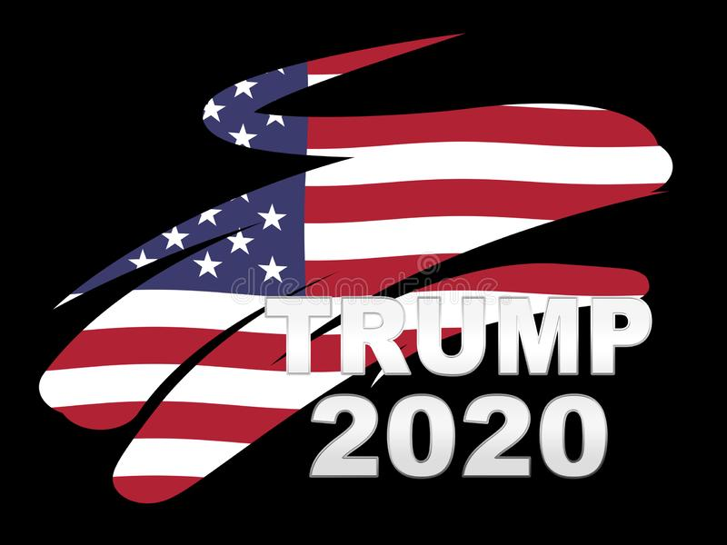 Trump 2020 Republican Choice For President Nomination - 2d Illustration. Trump 2020 Republican Choice For President Nomination. United States Voting For White royalty free illustration