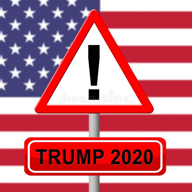 Trump 2020 Republican Choice For President Nomination - 2d Illustration. Trump 2020 Republican Choice For President Nomination. United States Voting For White stock illustration