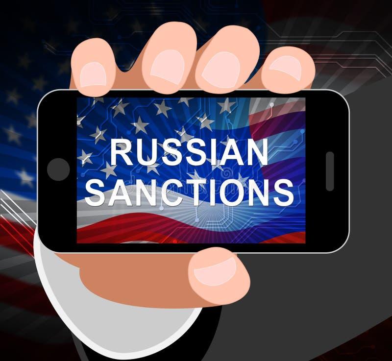 Trump Russia Sanctions Financial Embargo On Russian Federation - 3d Illustration. Trump Russia Sanctions Financial Embargo On Russian Federation. Putin Trade And vector illustration