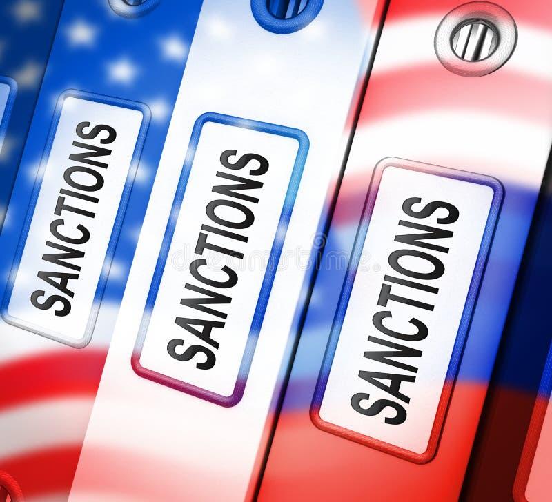 Trump Russia Sanctions Monetary Embargo Against Russian Federation - 3d Illustration. Trump Russia Sanctions Monetary Embargo Against Russian Federation. Putin vector illustration