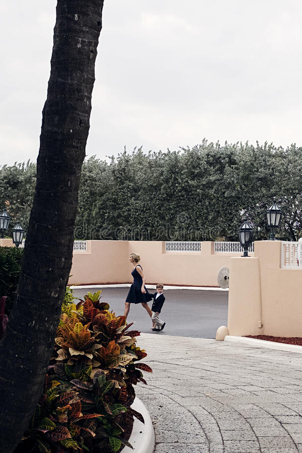 Trump`s Florida Retreat stock photo