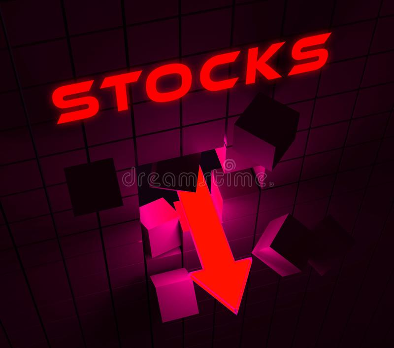Trump Stock Market Global Funds Fail And Financial Investment - 3d Illustration. Trump Stock Market Global Funds Fail And Financial Investment. Economic Market royalty free illustration