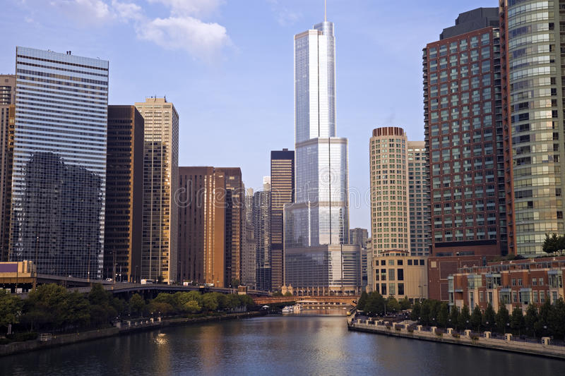 Trump Tower. In downtown Chicago, IL stock photos