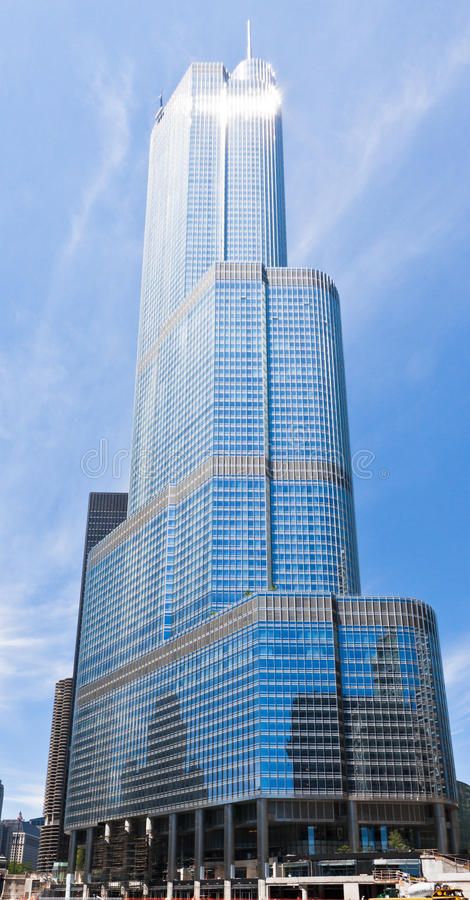 Download Trump Tower in Chicago editorial image. Image of trump - 22522395
