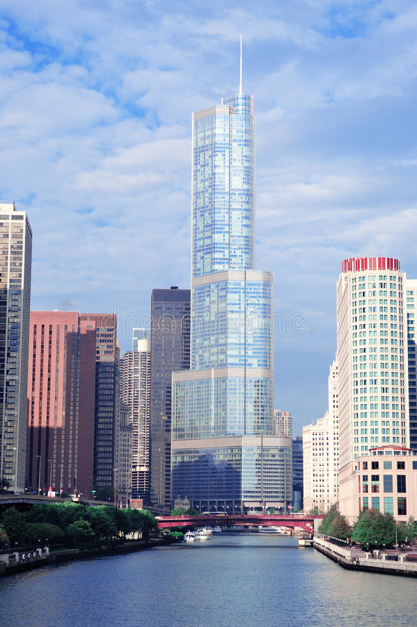 Smurfit Stone Building Chicago Stock Photo Image Of