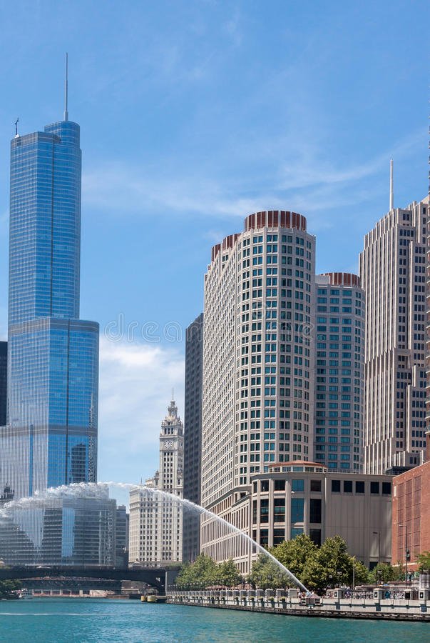 Download Trump Tower in Chicago editorial stock image. Image of united - 26012064