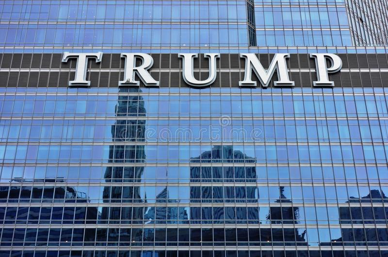 The Trump Tower Chicago. CHICAGO, IL - Opened in 2008, the Trump Tower Chicago is a mixed condo and hotel skyscraper in the River North area of Chicago. Donald royalty free stock photos