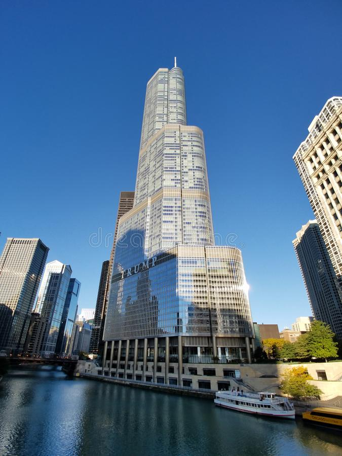 Trump Tower, Chicago. royalty free stock images