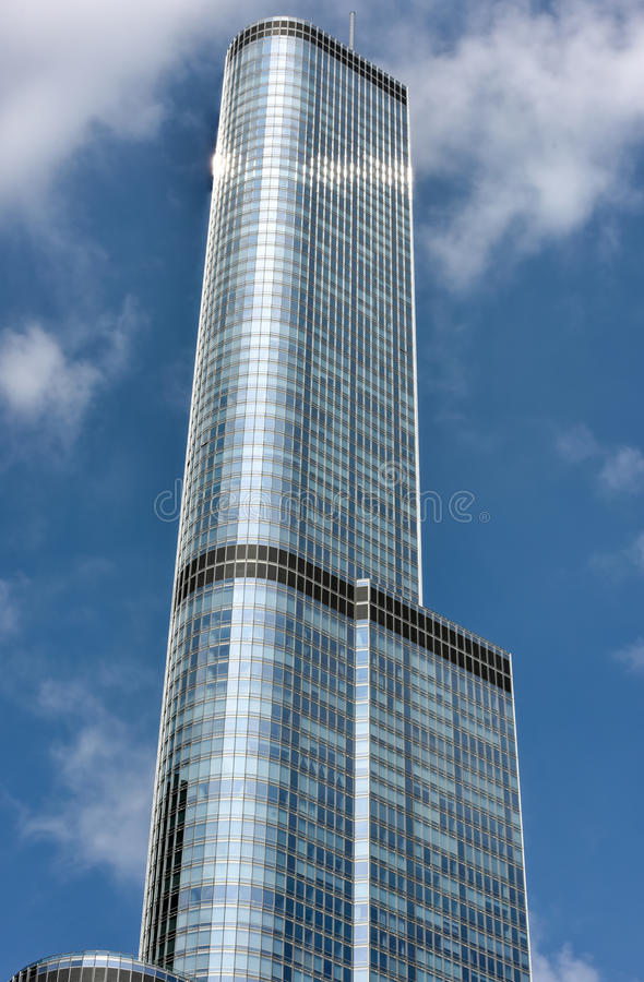 Trump Tower Chicago. The Trump International Hotel & Tower in Chicago. The Trump Tower was completed in 2008 stock photography