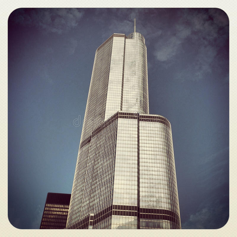 Trump Tower. Hotel and Condominium in Chicago stock image