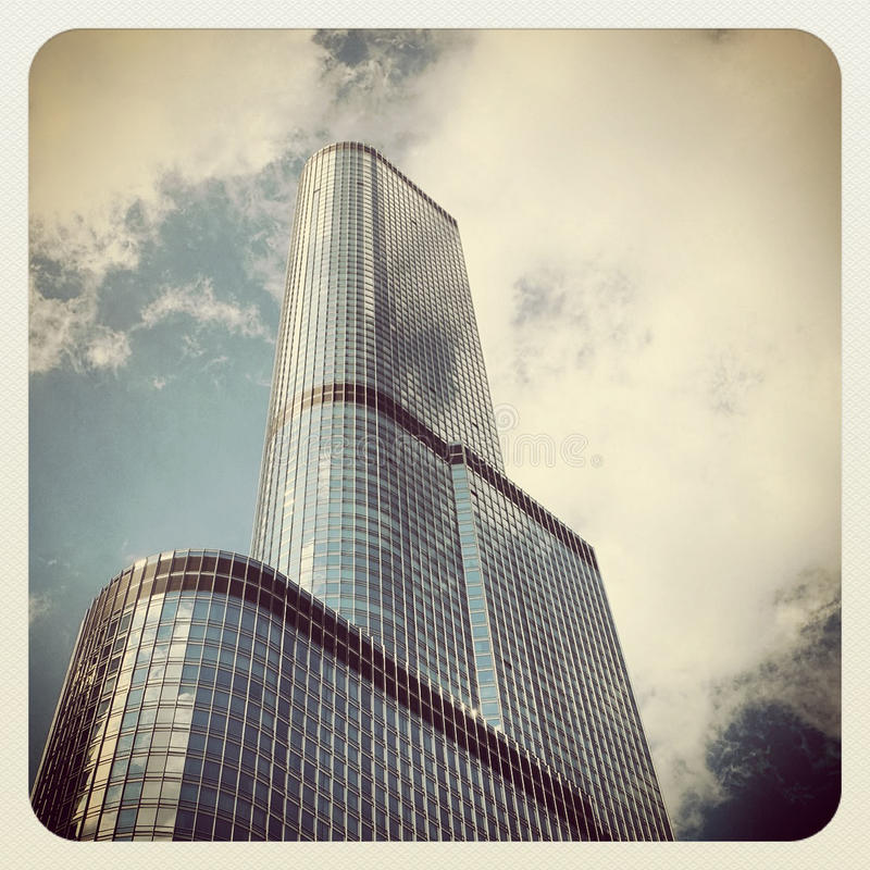 Trump Tower. Hotel and Condominium in Chicago royalty free stock photography