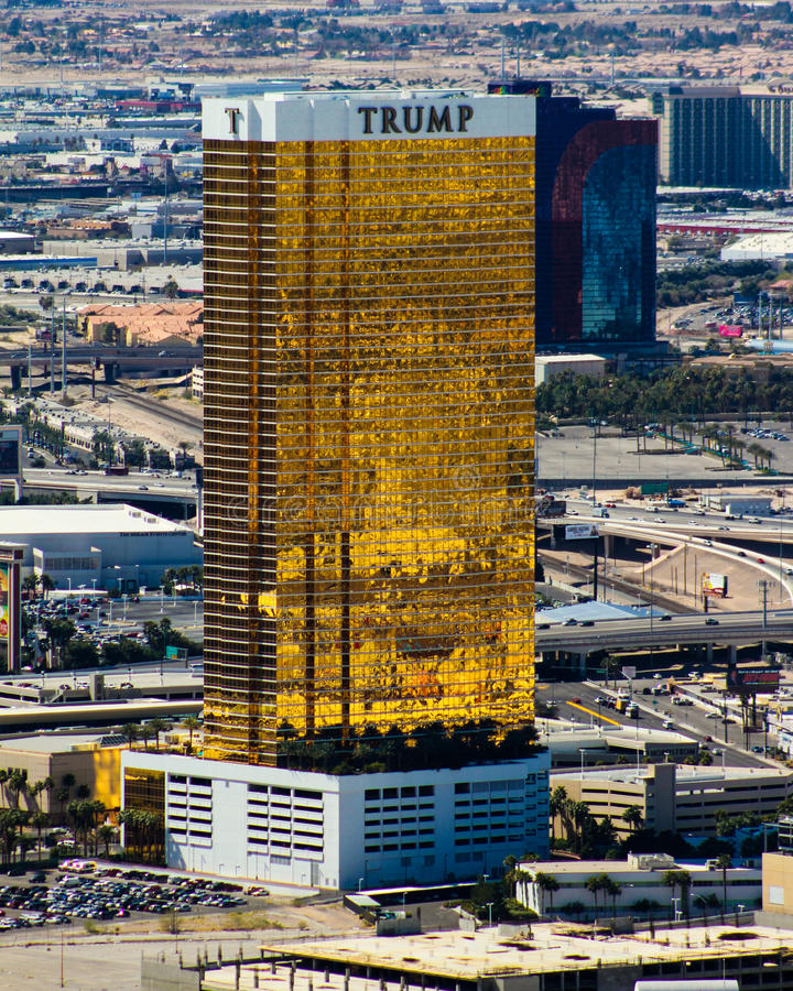 Trump Tower, Las Vegas, NV. The Trump Tower, Las Vegas style out in the desert royalty free stock photography