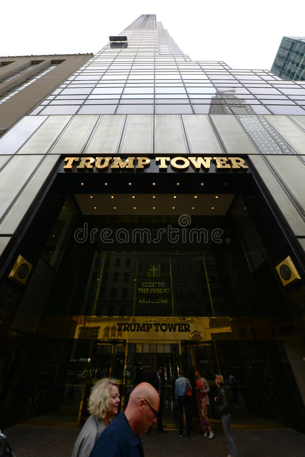 Trump Tower, Manhattan, New York City. Trump Tower on Fifth Avenue in midtown Manhattan, New York City, USA stock photography