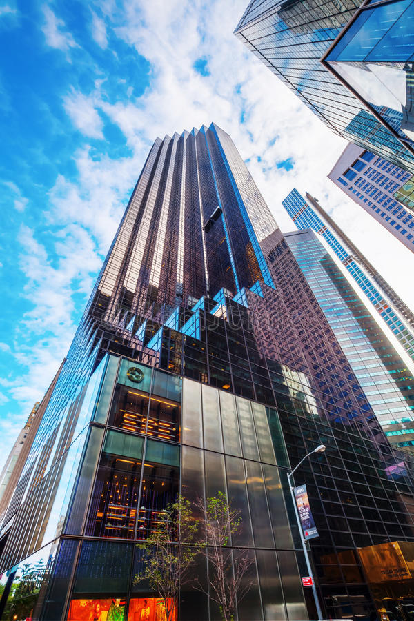 Trump Tower in Manhattan, NYC royalty free stock photo