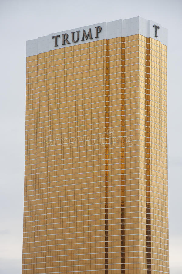 Trump Tower in Vegas. LAS VEGAS, NEVADA - May 4, 2016: Donald Trump Becomes the presumptive GOP nominee for the office of the President of the United States stock images
