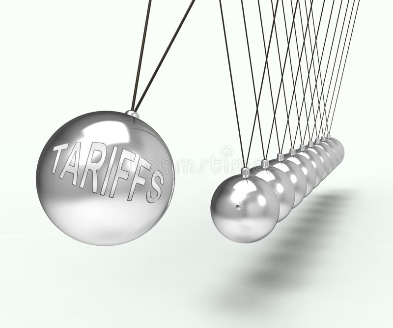 Trump Trade Tariffs On China As Duty And Penalty - 3d Illustration. Trump Trade Tariffs On China As Duty And Penalty. Usa Finance Economy Trading Taxation - 3d royalty free illustration