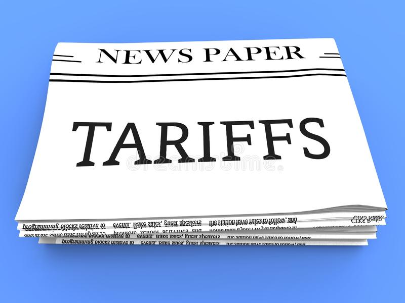 Trump Trade Tariffs On China As Tax And Penalty - 3d Illustration. Trump Trade Tariffs On China As Tax And Penalty. Usa Finance Economy Trading Taxation - 3d royalty free illustration