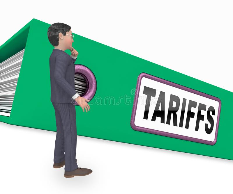 Trump Trade Tariffs On China As Tax And Penalty - 3d Illustration. Trump Trade Tariffs On China As Tax And Penalty. Usa Finance Economy Trading Taxation - 3d vector illustration