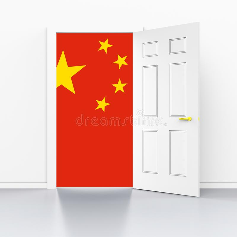 Trump Trade Tariffs On Chinese As Levy And Penalty - 3d Illustration. Trump Trade Tariffs On Chinese As Levy And Penalty. Usa Finance Economy Trading Taxation stock illustration
