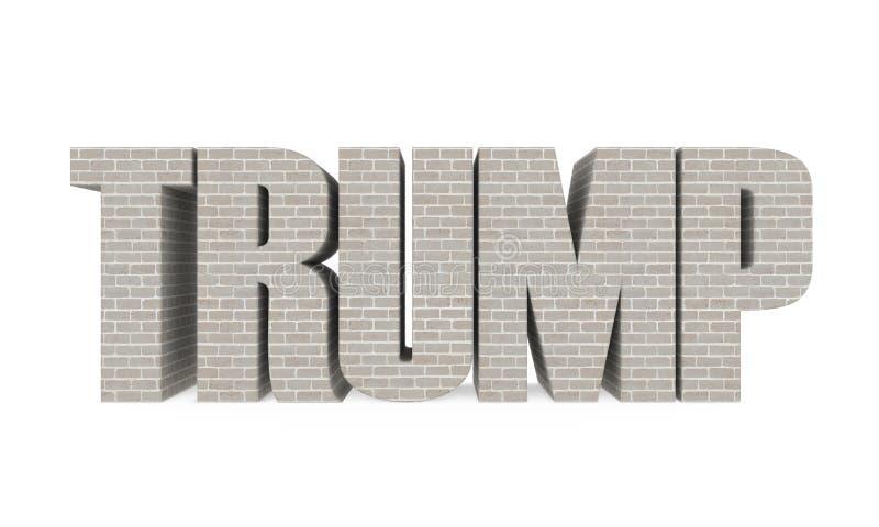 Trump Wall Isolated stock illustration