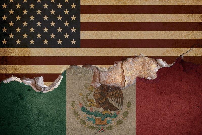 Trump wall Mexico US border royalty free stock photography