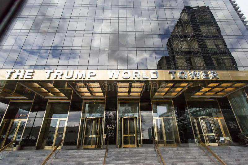 The Trump World Tower. Is a residential skyscraper at 845 United Nations Plaza (First Avenue between 47th and 48th Streets) in Manhattan, New York City royalty free stock photo