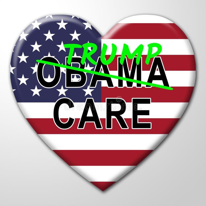 Trumpcare ou abrogation de santé de soin d'atout d'Obamacare ACA - illustration 3d illustration de vecteur
