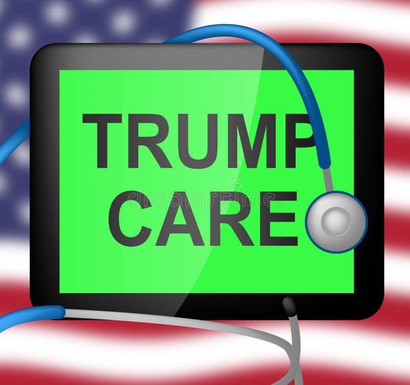 Trumpcare ou abrogation de santé de soin d'atout d'Obamacare ACA - illustration 3d illustration stock