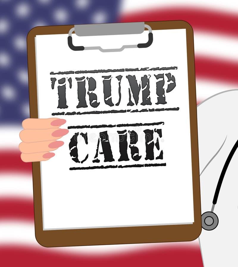 Trumpcare ou abrogation de santé de soin d'atout d'Obamacare ACA - illustration 3d illustration libre de droits