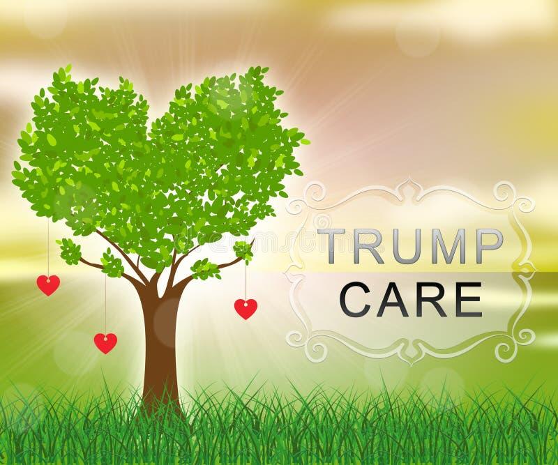 Trumpcare ou abrogation de santé de soin d'atout d'Obamacare - 2d illustration illustration de vecteur