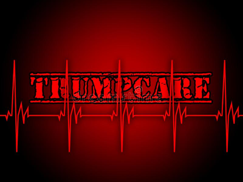 Trumpcare ou abrogation de santé de soin d'atout d'Obamacare - 2d illustration illustration stock