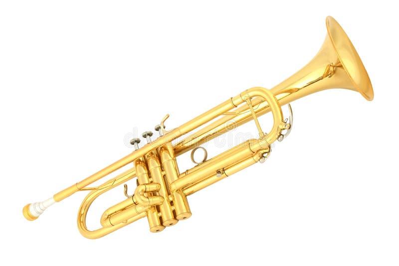 trumpet золота стоковое изображение rf