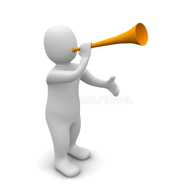 trumpet человека иллюстрация вектора