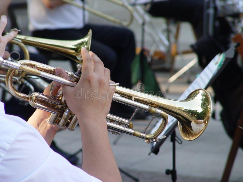 trumpet royaltyfri bild