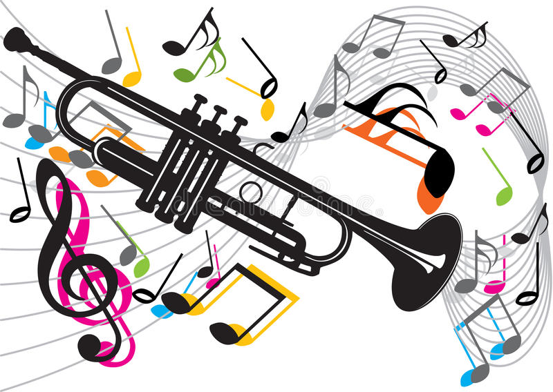 Download Trumpet stock vector. Image of instrument, vector, party - 11066456