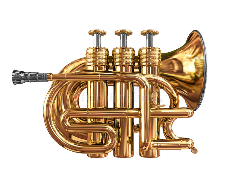 Trumpet stock illustrationer