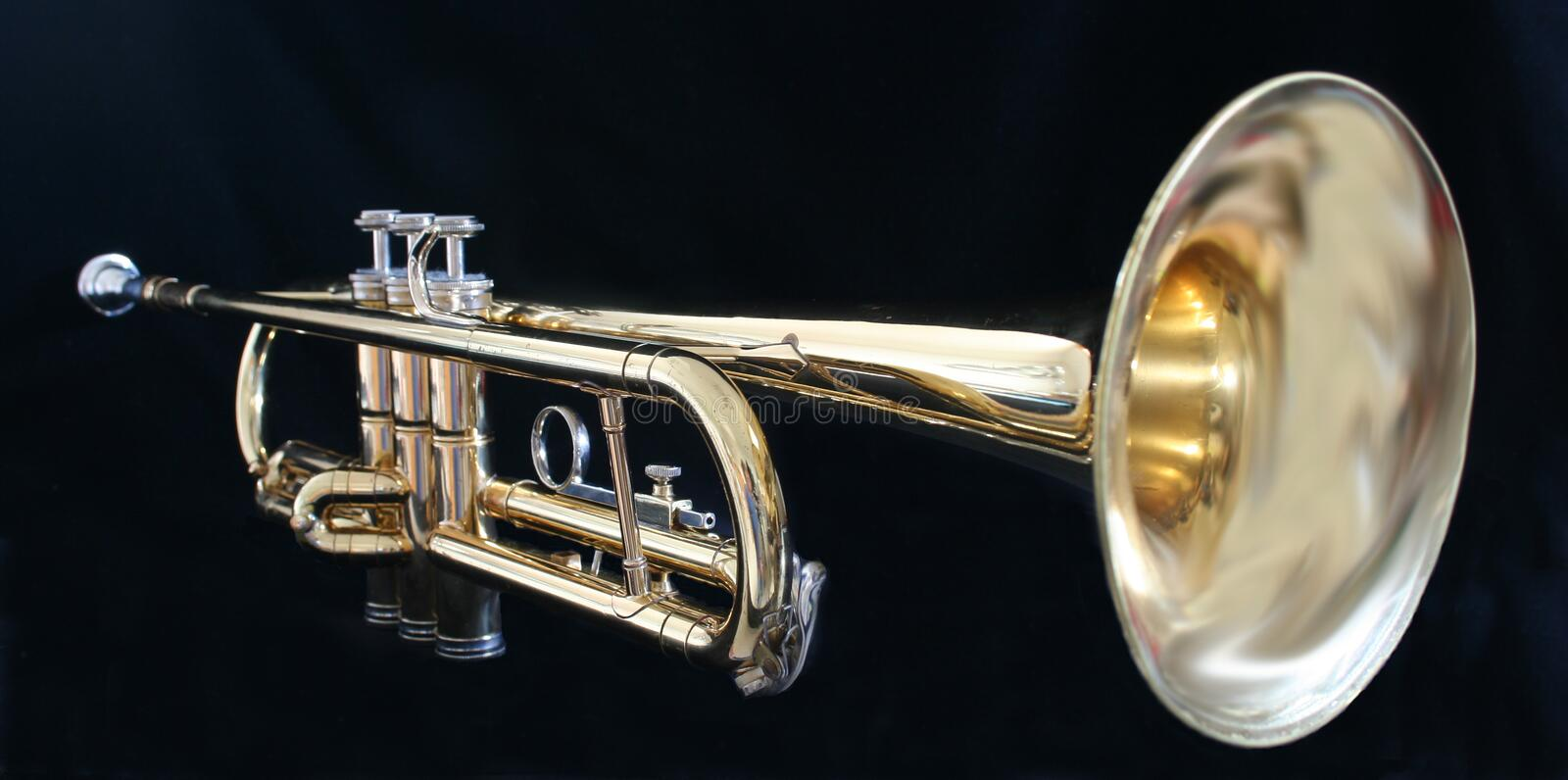 Download Trumpet stock image. Image of keys, black, photograph - 3193113