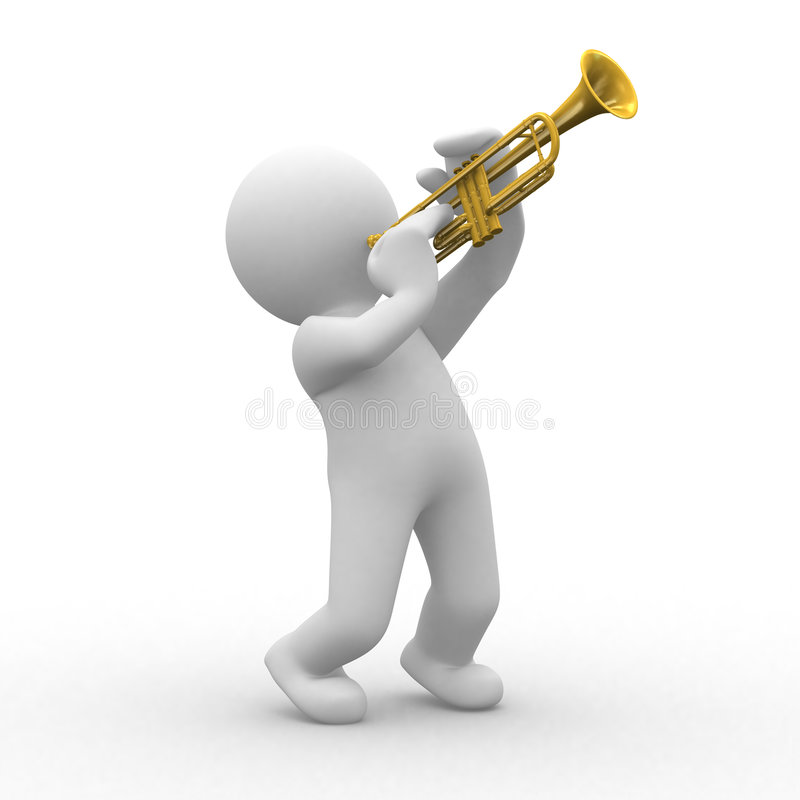 Trumpet stock illustration