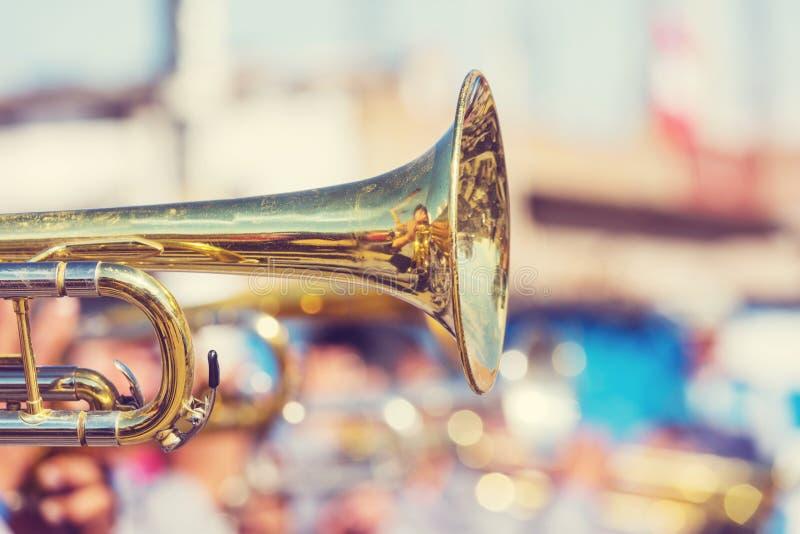 trumpet royaltyfri foto