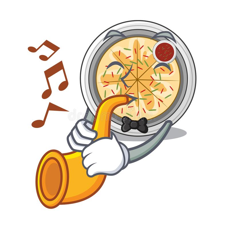 With trumpet buchimgae isolated with in the mascot stock illustration