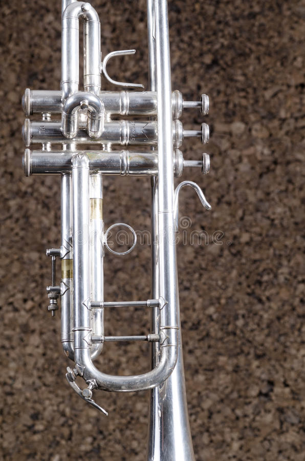 Trumpet close up royalty free stock photography