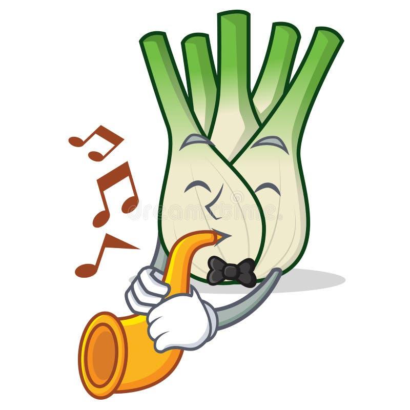 With trumpet fennel mascot cartoon style. Vector illustration vector illustration