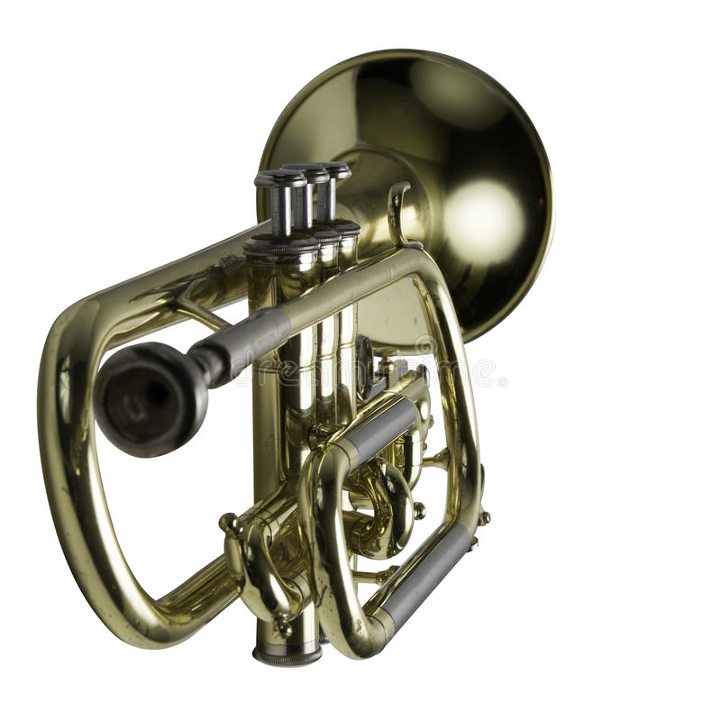 A trumpet with focus on the keys stock images