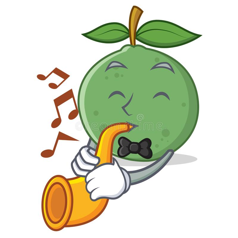 With trumpet guava mascot cartoon style. Vector illustration vector illustration